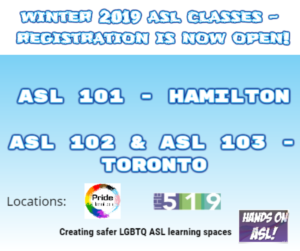 Winter 2019 ASL Classes