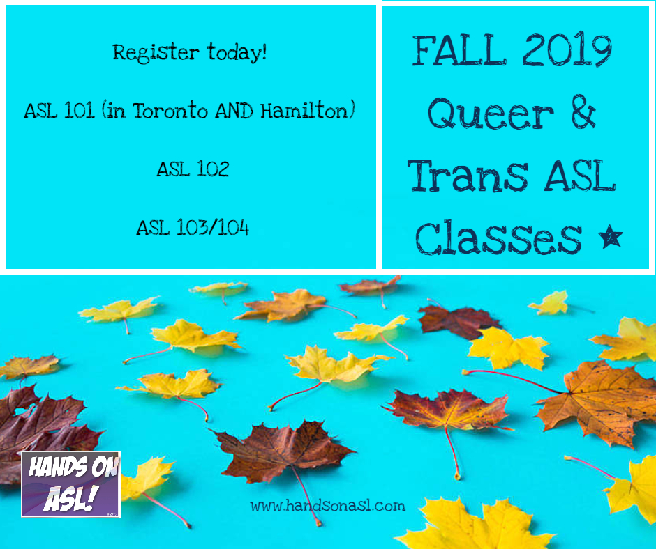 Fall 2019 ASL Classes